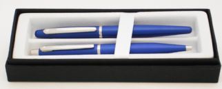 Sheaffer VFM Fountain Pen & Ballpen gift set in Neon Blue
